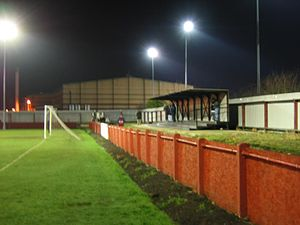 Selby Town F.C. - Image: Selby town sports centre end terrace