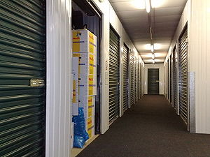 Corridor with self-storage units (in CityBox U...