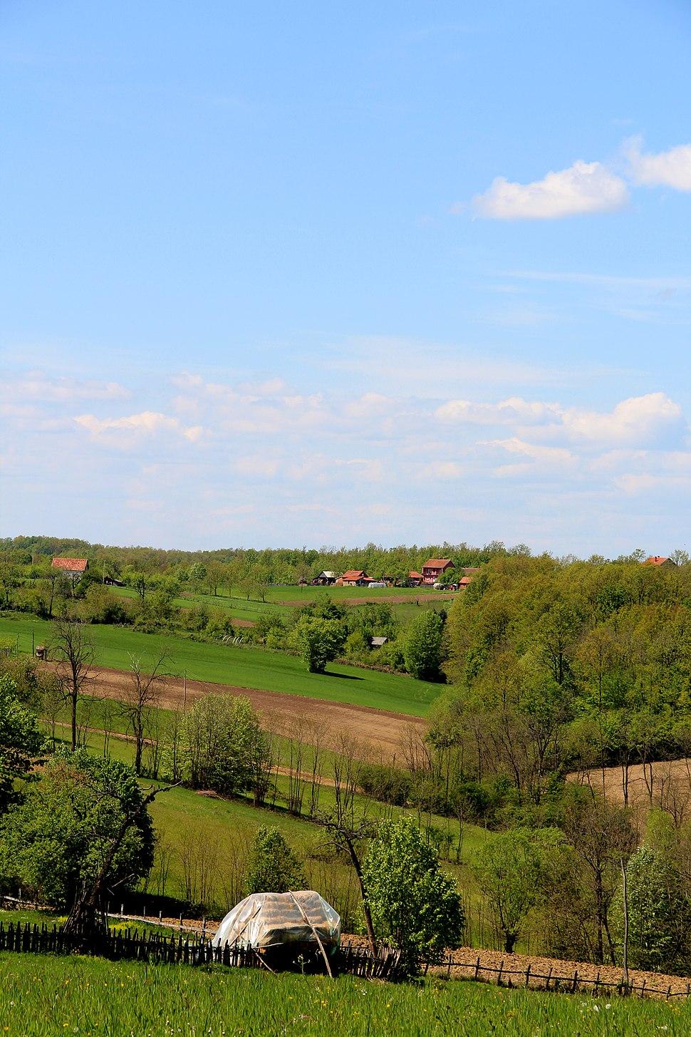 Selo Jazovik - opština Valjevo - zapadna Srbija - panorama 6