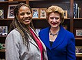 Senator Stabenow meets with a constituent. (18206367828).jpg