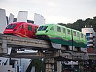 Sentosa Express Green & Red Train.JPG