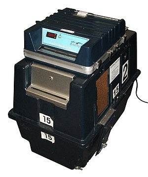 Optical scan voting system - An Optech Eagle scanner sold by Sequoia Pacific Systems.