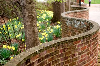 University of Virginia - One of the serpentine walls