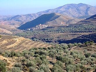 Sierra de la Virgen - Sierra de la Virgen rising behind Sestrica