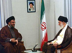 Hassan Nasrallah - Nasrallah visiting Iranian Supreme Leader Ali Khamenei in Tehran, 1 August 2005