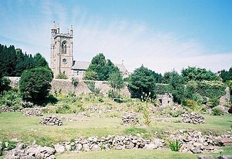 Ælfgifu of Shaftesbury - The remains of the Norman buildings which replaced the earlier ones at Shaftesbury Abbey.