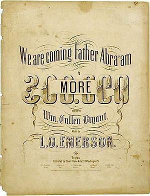 We Are Coming, Father Abra'am - We Are Coming, Father Abra'am, arranged by L.O. Emerson.