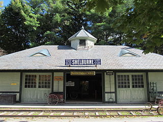 Shelburne Railroad Station and Freight Shed Exhibit buildings at Shelburne Museum in Vermont