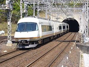 Osaka Line - 21000 series EMU on a limited express service passing New Aoyama Tunnel