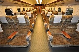 Mizuho (train) - Image: Shinkansen Sakura number standard sized car reserved seat (N700 series No. 8000 stand)