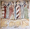 Siedlęcin Wieża Książęca Gotyckie malowidła ścienne Cykl Memento Mori.JPG