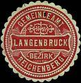Siegelmarke Gemeindeamt Langenbruck - Bezirk Reichenberg W0312728.jpg