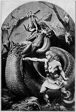 Siegfried fighting the Dragon