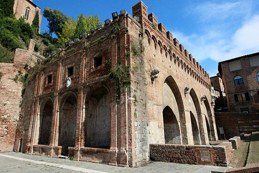 Fontebranda, a medieval fountain in Siena