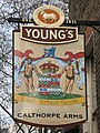Sign for The Calthorpe Arms, Gray's Inn Road, WC1 - geograph.org.uk - 1229285.jpg