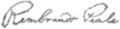 Signature of Rembrandt Peale (1778–1860).png