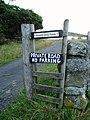 Signs at Knock Gray Farm. - geograph.org.uk - 518872.jpg