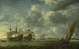 Ships in the River Maas off Rotterdam