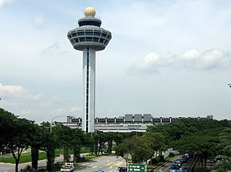 Civil Aviation Authority of Singapore - The control tower of Changi Airport.