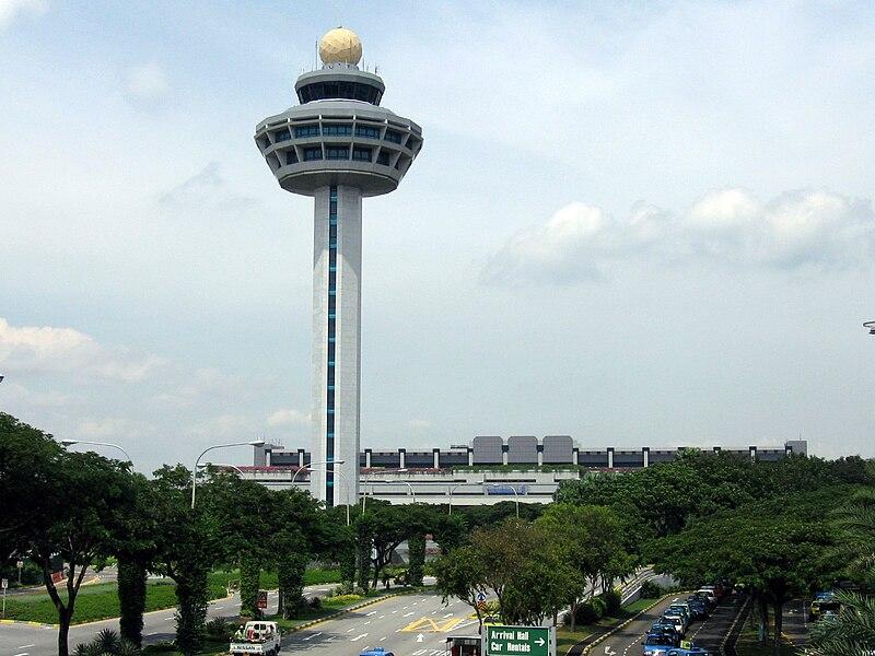 Singapore Changi Airport, Control Tower 2, Dec 05.JPG