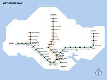 Singapore Subway Map 2014.History Of The Mrt Singapore Wikipedia