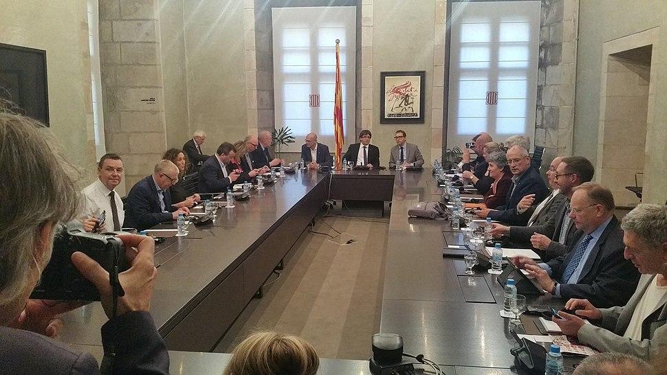 Sinn Féin representatives meeting Catalan President Carles Puigdemont ahead of the referendum