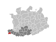 Vị trí của Sint-Amands in the province of Antwerp