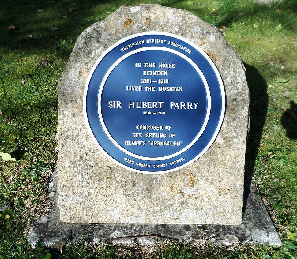 Sir Hurbert Parry in Rustington