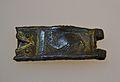 Sivella de cinturó amb imatge de basilisc, pobla medieval d'Ifac, Museu d'Història de Calp.JPG