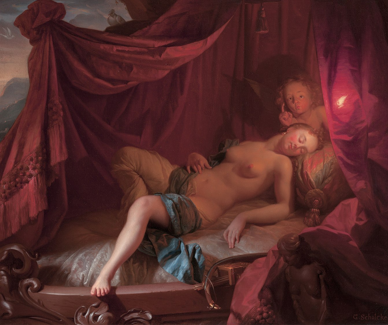 Sleeping Venus and Cupido, by Godefridus Schalcken.jpg