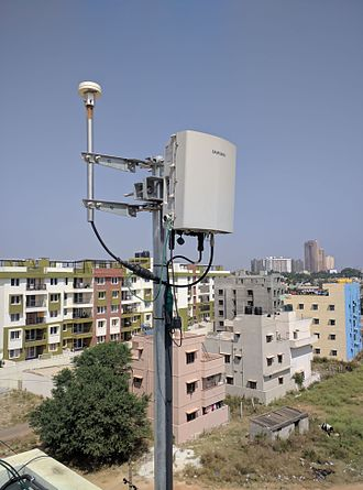 Small cell - A small cell situated in the terrace of a building in Bangalore, India