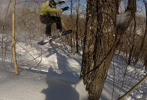 Snowboarding - Freeride snowboarding is snowboarding in areas off of the main trails.