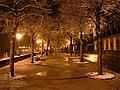 Snowy night alley in Angoulême (FIBD 2007).jpg