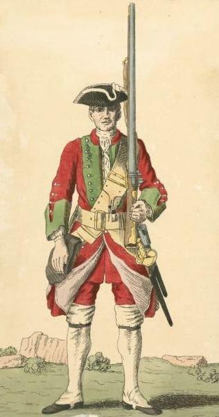Soldier of 43rd regiment 1742