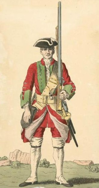 43rd (Monmouthshire) Regiment of Foot - Soldier of the 43rd Regiment, 1742