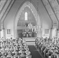 Soldiers in Saint George's Church, Mariehamn during Commemoration Day of Fallen Soldiers 1944.jpg