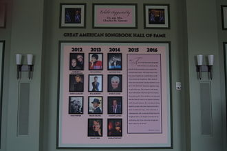 Great American Songbook Foundation - The Great American Songbook Hall of Fame exhibit is housed in the Shiel Sexton Songbook Lounge at The Palladium.