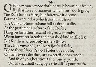 Sonnet 54 poem by William Shakespeare