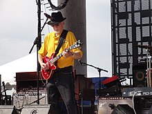 Burgess playing at Riverfest in Little Rock, Arkansas, 2013