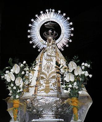 Nuestra Señora de la Soterraña - Present Our Lady of Soterraña image, the original one burned at 19th century.