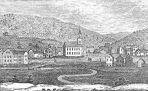 Winsted, Connecticut - Winsted in 1836, a woodblock print drawn by John Warner Barber