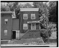 Southwestern elevation. View of main entrance. - Jacob Dick House, 393 National Road, Wheeling, Ohio County, WV HABS WVA,35-WHEEL,41-4.tif