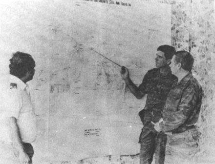 Soviet military advisers planning FAPLA operations in southern Angola. Soviet advisers planning military operations Angola.jpg