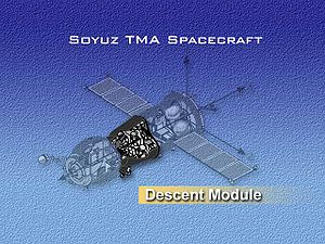 Space capsule - The Soyuz space capsule (Descent Module)
