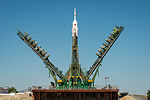 Soyuz TMA-09M spacecraft at the Baikonur Cosmodrome launch pad (4).jpg