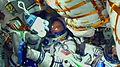Soyuz TMA-17M inside the capsule during ascent.jpg