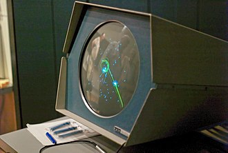 Computer graphics - Spacewar running on the Computer History Museum's PDP-1