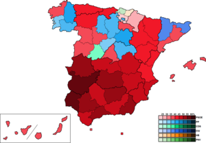 European Parliament election, 1989 (Spain) - Image: Spain Province Map European 1989