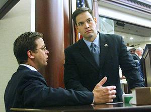 Carlos López-Cantera - López-Cantera and Marco Rubio in 2007