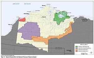 National Petroleum Reserve–Alaska - Shows special areas in the National Petroleum Reserve–Alaska